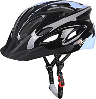 JBM Adult Cycling Bike Helmet Specialized for Men Women Safety Protection CPSC Certified (18 Colors) Black/Red/Blue/Pink/Silver Adjustable Lightweight Helmet (Black (New), Adult)