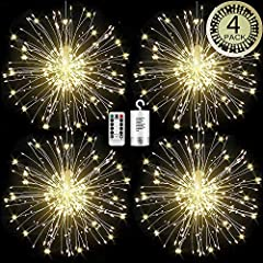 ✔ BEND INTO ANY SHAPES YOU LIKE -- 120 leds inlaid on 60 bundles of copper wires, which can be bend into any shapes: bouquets, fireworks, spiral, star shapes and etc, these firework lights are perfect decorative lights for birthday, led fairy string ...