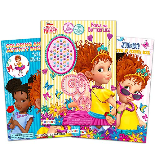 Disney Fancy Nancy Coloring Book Bundle 3 Fancy Nancy Books 160 Pages Total With Jewel Stickers And More Fancy Nancy Party Pack Wantitall