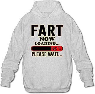 MPIQW Mens Fart Loading Please Wait Hoodie Comfy Pullover Sweatshirt