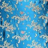 Blaugrün 114,3cm breit geflochten Chinesischer Drache
