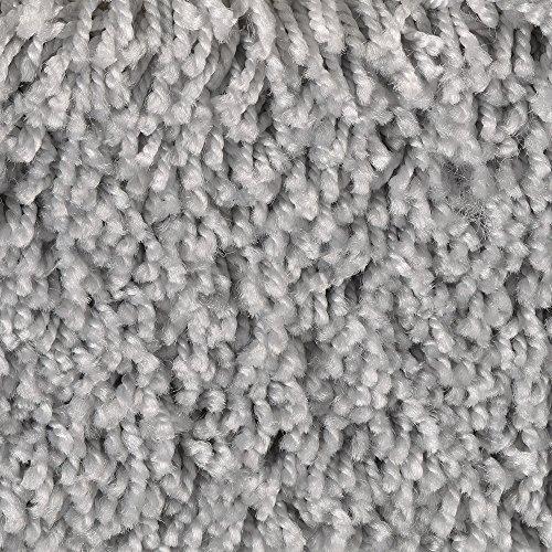 BODENMEISTER BM72231 Teppichboden Auslegware Meterware Hochflor Shaggy Langflor Velour grau hell 400 und 500 cm breit, verschiedene Längen, Variante, 2 x 5 m