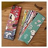 BIVJX Segnalibri 30 unids/Set Lindo Kawaii Papel Bookmark Vintage Estilo japonés Marcas de Libros para niños Materiales de papelería de la Oficina de la Oficina de la Escuela Apto para Libros