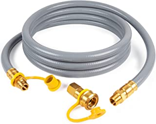 SHINESTAR 15FT 3/4-Inch Natural Gas Hose with Quick Connect Fitting, Propane to Natural Gas Conversion Kit for Constructio...
