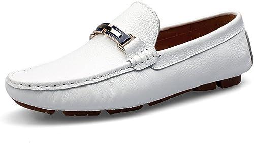 Chaussures de Cricket Mocassins de Conduite pour Hommes Solide Couleur Penny Bateau Chaussures Caoutchouc Semelle Décontracté Mocassins