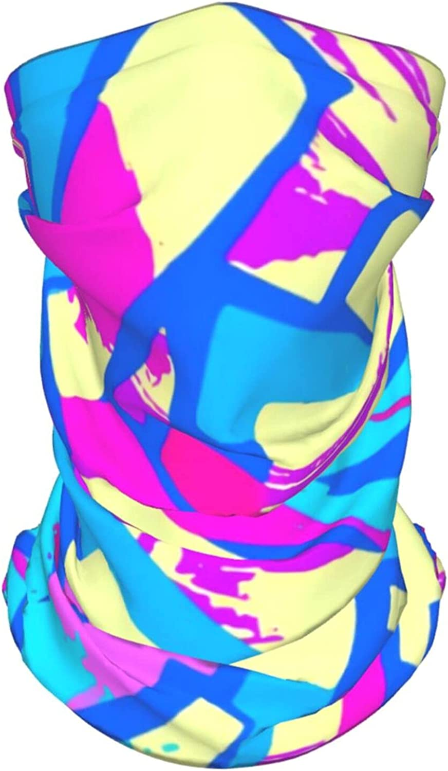 Funky Pattern2 Neck Gaiter Multipurpose Headwear Ice Silk Mask Scarf Summer Cool Breathable Outdoor Sport 2 Pcs