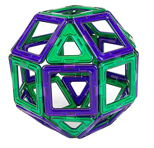 Magformers Set, Green/Purple Set (34-pieces)