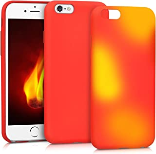 kwmobile Thermal Sensor Case for Apple iPhone 6 / 6S - Color Changing Fluorescent TPU Heat Sensitive Cover Red/Yellow