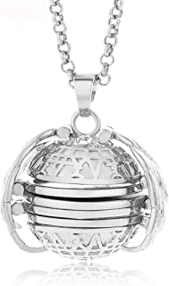 Portonss Expanding Photo Locket Necklace Pendant Gift Jewelry Decoration for Women Lady