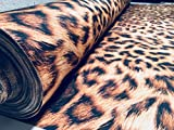 LushFabric Leopard Animal Print Panther Fell Baumwolle