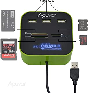 Acuvar USB & Micro USB OTG SD/Micro SD Card Reader/Writer for Smartphones, Tablets, Computers