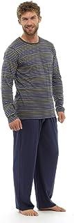 Mens Striped Long Sleeve Top & Pants Nightwear Pyjamas Lounge Wear