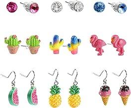 SkyWiseWin Hypoallergenic Earrings Dangle Set for Kids, Earrings for Sensitive Ears, Cute ice cream Swing Pendant Earrings Little Girls Gifts