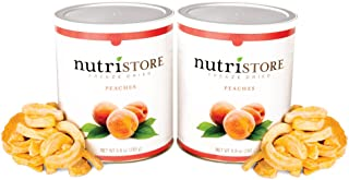 Freeze Dried Peaches by Nutristore | Pack of 2 | 19.6 Total oz | Amazing Taste | Healthy Snack | Survival Food