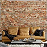 PROCIDA Brick Wall Tapestry Marble Wall Vintage Texture Stone Large Wall Hanging Home Decor for Dorm Room Bedroom Living Room College, Nail Included, 90' W x 71' L, Loam Brick Wall