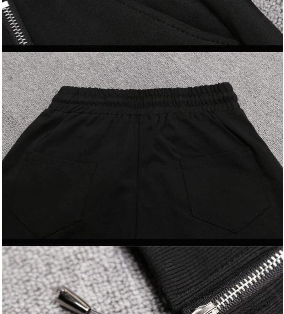 CKBYTH Pantalons Pantalon De Sport Hip Hop Pantalon Cargo pour Femmes, Noir, Rouge, Élasticité, Femmes Black