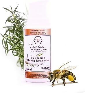 Fußcreme Honig Rosmarin in BIO Qualität - 100% natürliche Fußpflege 100 ml - Für trockene und müde Füße mit natürlichem Bienenwachs - Hergestellt in den Tiroler Bergen