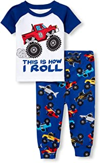 The Children's Place Baby Boys Graphic Short Sleeve Top and Bottom Pajama Set