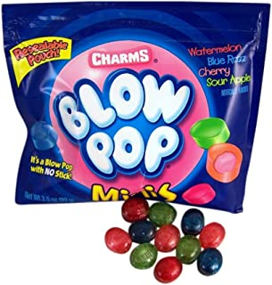 Charms Blow Pops Minis Candy, 3.5 oz Resealable Pouch, Pack of 3