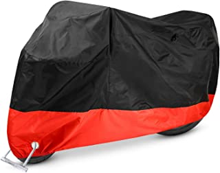 Motorcycle Cover, Ohuhu All Season Waterproof Windproof Motorbike Covers with Lock Holes, Fits up to 108