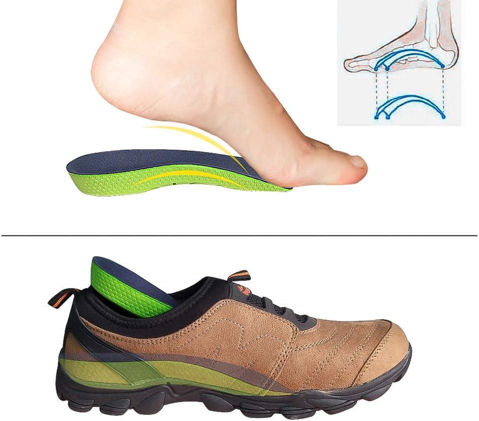 arches tomb/ées CosyInSofa Semelle orthop/édique 3//4 de longueur vo/ûte haute pronation du pied douleur au talon/… pied plat pour soutien de la vo/ûte plantaire fasciite plantaire