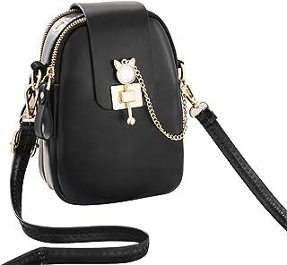 Women Mini body Bag with Adjustable Strap Fashion Solid Pattern Multipurpose Handbags Mini Shoulder Bag Waterproof Purse P...