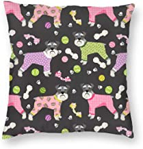Pillowcases Schnauzers in Jammies Cute Dogs in Pajamas Pyjamas - Charcoal for Sofa Bedroom livingroomTwo Sides Printing 18x18 inch