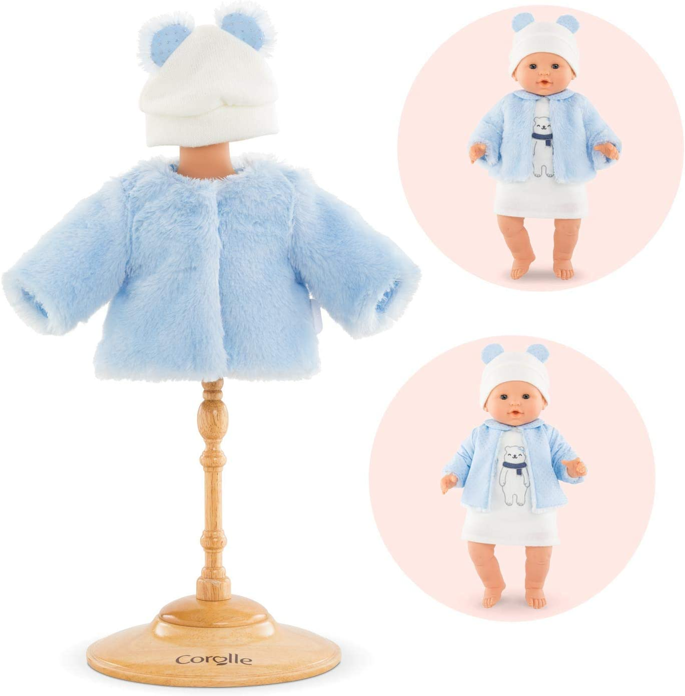 Corolle - Mon Grand Poupon Winter Sparkle Coat and Hat, Reversible, for 14
