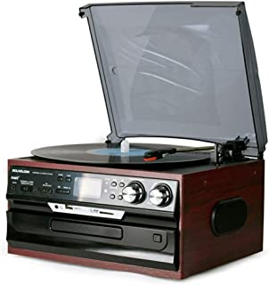 $320 » DSWHM Exquisite and Elegant Music Box 3-Speed Stereo Turntable, 2 Built in Speakers Digital LCD Display AM/FM, USB/SD/AUX+...
