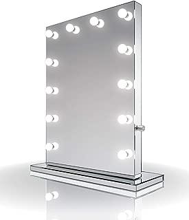 Diamond X Mirror Finish Hollywood Makeup Mirror Warm White LED k252WWaud