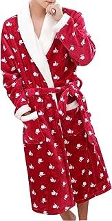 Thick Coral Velvet Robe Kimono Belt Bathrobe Nightgown Homewear
