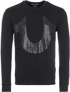 True Religion Diamond Stones Horseshoe Logo Sweatshirt - Black