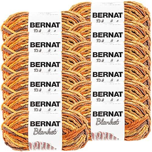 Bernat Blanket Yarn-12/Pk-Fall, 12/Pk, Fall Leaves 12 Pack
