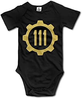 HYRONE Video Game Logo Vault Baby Bodysuit Long Sleeve Climbing Clothes Black