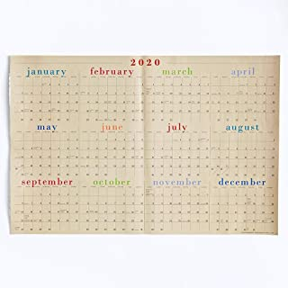 Paper Source 2020 12 Month Full Year Laminate Calendar, 24