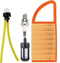 Mckin 4282 141 0300 Air Filter + Fuel Filter Line Kit + Spark Plug fits Stihl BR500 BR550 BR600 Backpack Blower Parts
