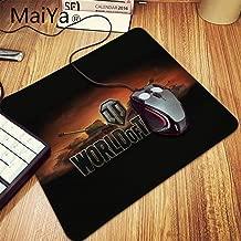 World Of Tanks Logo Durable Desktop Mousepad Table Keyboard Gaming Mouse PadLarge Office Computer Desk Mat Makfacp (Color : Lock Edge 20x25cm)