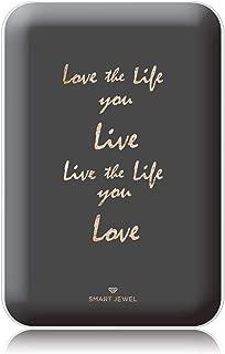 [SMART JEWEL] 【Love the life】 モバイルバッテリー 軽量 小型 薄型 かわいい おしゃれ コンパクト 5000mAh 女子用 急速充電 2台同時充電 PSE認証取得済み iPhone ipad対応 iQos対応 SSC5-MG6-WH_zq