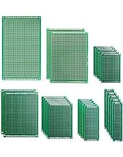 25 Piezas 7 Tamaños 2x8 3x7 4x6 5x7 7x9 8x12 9x15cm PCB Prototipo Placa Soldar Circuitos Doble Cara Kit para Bricolaje Soldadura, Compatible con Kits Arduino