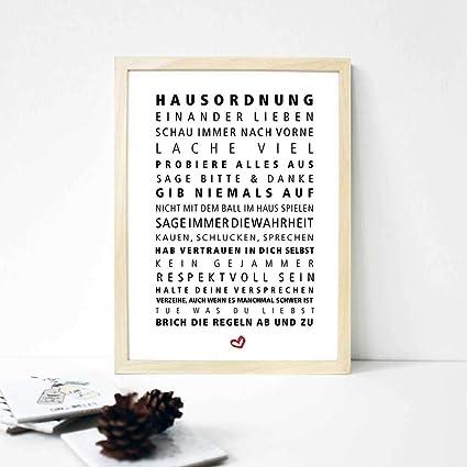 Poster Hausordnung Zeit für Schönes! Formart
