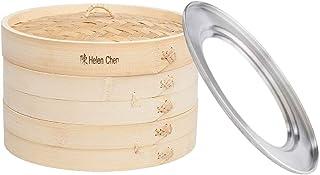 Helen Chen de asiatique de cuisine 25,4cm Panier vapeur en bambou et 27,9cm Bague de cuisson à la vapeur