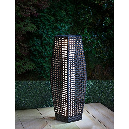 mdl-stylish Rattan Garten-Stehlampe im solarbetrieben Traditionelle Effekt 69cm