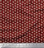 Soimoi Rosso Jersey di Cotone Tessuto DOT & salatini Cibo Tessuto Stampato da Metro 58 Pollici Larghi