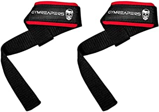 Gymreapers Lifting Wrist Straps for Weightlifting, Bodybuilding, Powerlifting, Strength Training, Deadlifts - Padded Neopr...
