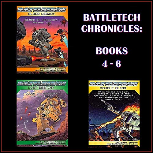 Battletech Chronicles Books 4-6  By  cover art