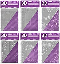 Crafters Companion 日常 Shabby 3D 压花文件夹套装,31.5 x 22.5 x 8.5 厘米
