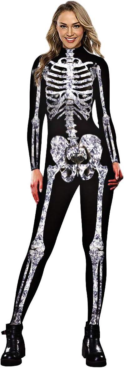 Neusky Halloween Max 44% OFF Women's Max 60% OFF Skeleton Black Costume L White