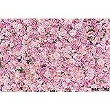 Fantasía Flores Pared Rosa Bush Baby Shower Decro Fiesta de cumpleaños Boda Foto Telones de Fondo Fondos fotográficos A8 3x3m