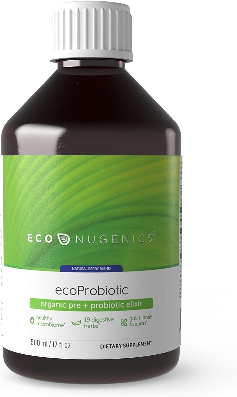 EcoProbiotic Probiotic and Prebiotic Max 53% OFF [Alternative dealer] with Digestive Herbs 19 - M