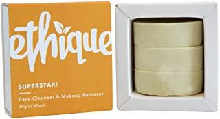 Ethique Eco-Friendly Face Cleanser & Makeup Remover, SuperStar! Multi-purpose Facial Cleansing Bar, Sustainable, Natural, Plastic Free, Vegan, Plant Based, 100% Compostable and Zero Waste, 2.47oz